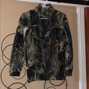 Youth L camouflage fleece. Like new